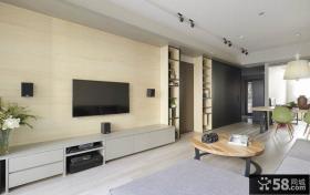 简约现代风格客厅电视背景墙效果图大全