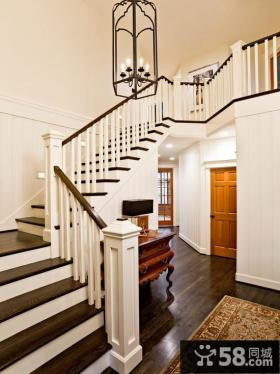 2015美式风格室内楼梯图片大全