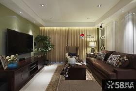 美式风格客厅电视墙装修效果图片