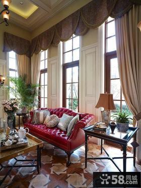 别墅客厅沙发边桌装修效果图