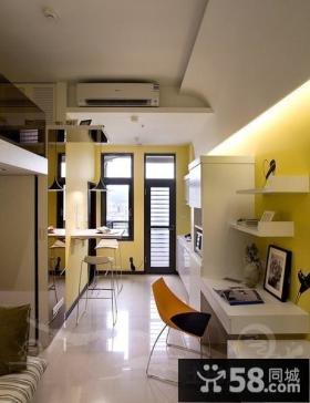 现代风格小复式书房装修效果图大全2012图片