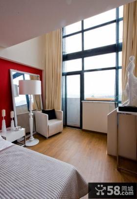 现代家居卧室玻璃幕墙装修效果图