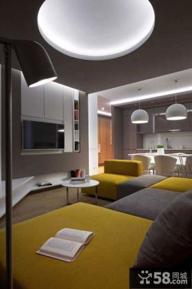 2015北欧风格室内客厅电视背景墙效果图