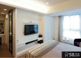简单卧室电视背景墙装修效果图大全