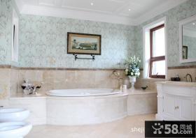 美式奢华联排别墅卫生间装修效果图