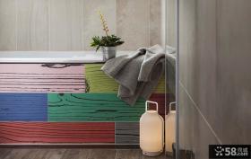 北欧风格实木鞋柜设计装修图片