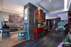 混搭中式别墅室内设计效果图