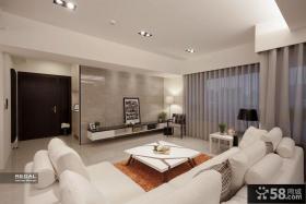 白色简约时尚三室两厅装修效果图