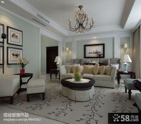 欧式风格客厅布艺沙发装修图片欣赏