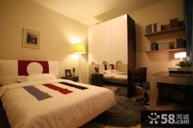 现代风格两室一厅卧室装修效果图片