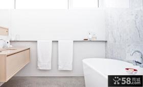 北欧简约风格室内浴室装修效果图片