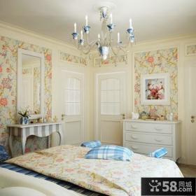 时尚卧室壁纸装修效果图大全