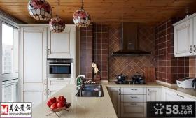 田园风格开放式阳台厨房装修效果图