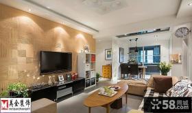 优质简约型客厅电视背景墙效果图