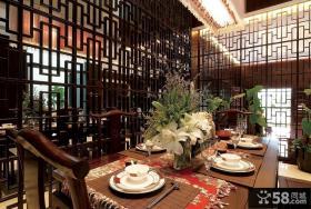 中式餐厅装修效果图大全2013图