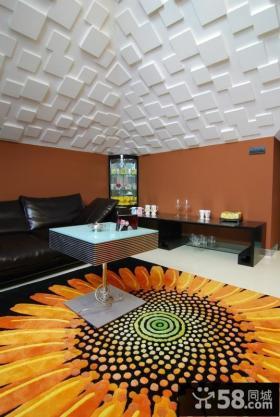 后现代风格复式楼客厅装修效果图