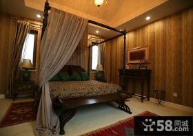 奢华浪漫的欧式别墅客厅飘窗装修效果图大全2014