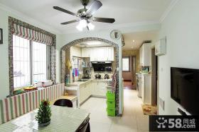 40平米美式单身公寓小户型装修效果图