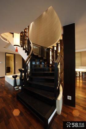 中式别墅楼梯设计效果图