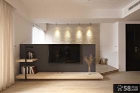 现代室内电视背景墙装饰贴图
