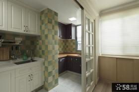 厨房推拉门隔断设计