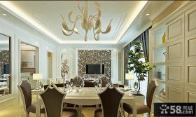 现代餐厅吊顶灯效果图片大全