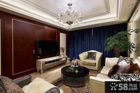 美式风格7平米客厅电视背景墙大全