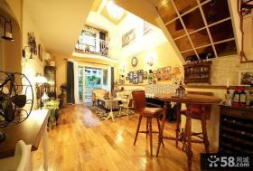 美式小别墅客厅整体效果图