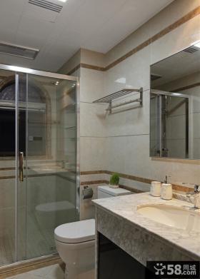 现代风格复式室内卫生间装修效果图