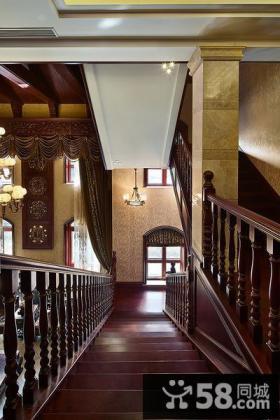 中式设计楼梯间吊顶