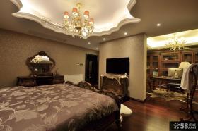 美式别墅高档卧室电视背景墙图片