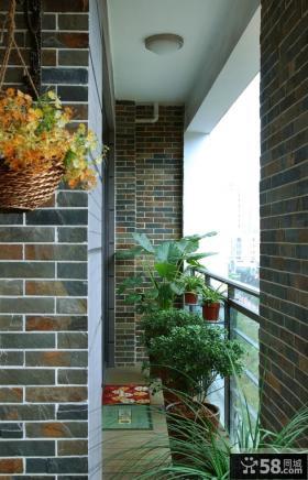 80平米小户型阳台装修效果图
