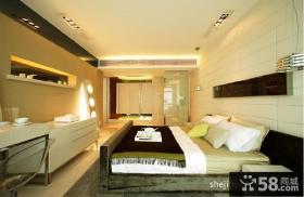 复式楼现代风格卧室效果图