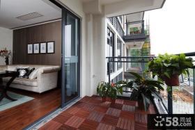 现代豪华别墅阳台装饰设计效果图
