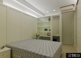 美式风格家居单身公寓卧室效果图