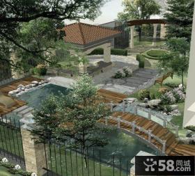 大型别墅庭院设计平面图