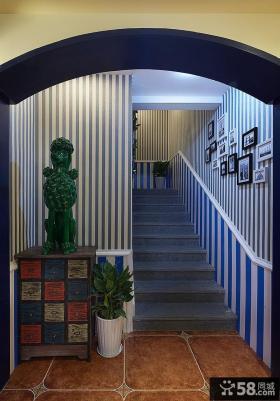 地中海风格复式楼梯设计效果图