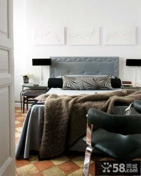 2012小户型简欧风格卧室背景墙装修效果图