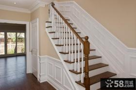 复式楼欧式墙裙楼梯效果图片