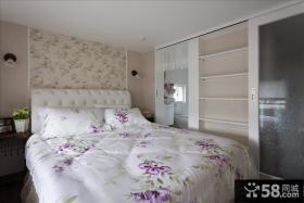 卧室床头墙纸效果图