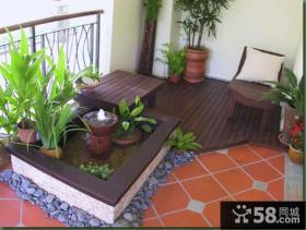 现代日式阳台花园设计