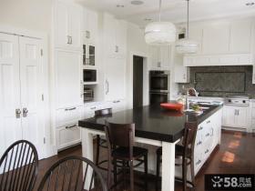 简欧式别墅厨房装修效果图片