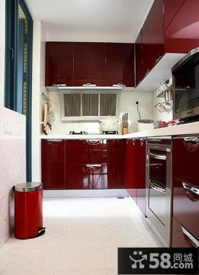 现代简约风格两室两厅厨房橱柜效果图