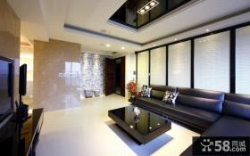 现代时尚大宅客厅装修案例