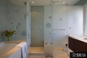 浴室玻璃门图片欣赏