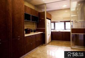 现代复式楼厨房装修效果图