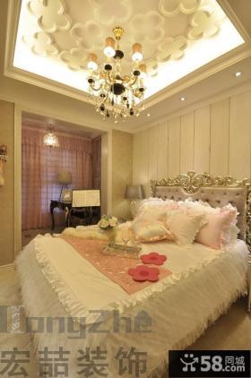 欧式三室两厅卧室吊顶效果图