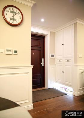 美式家居玄关设计室内效果图片