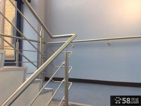 室内不锈钢楼梯扶手图片