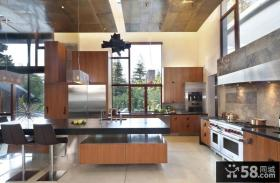现代简约别墅家庭大厅装修效果图